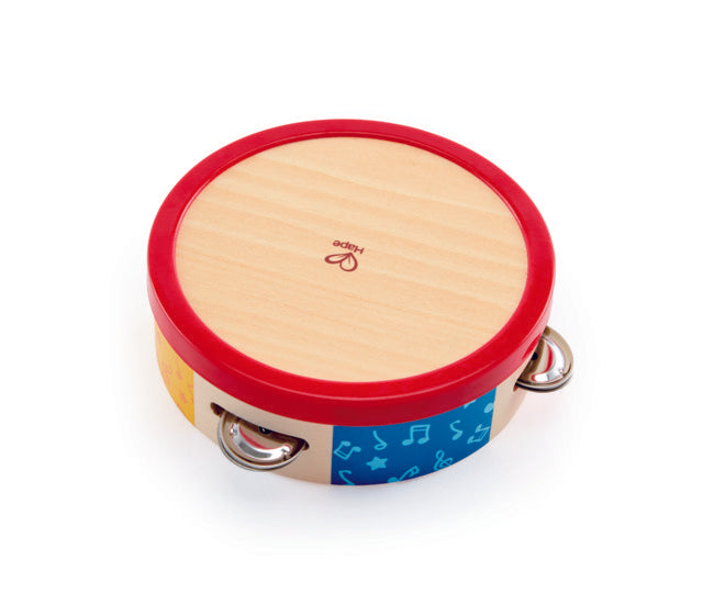 Hape Tap-along Tambourine, a first musical instruments for babies, perfect for making music The Toy Wagon
