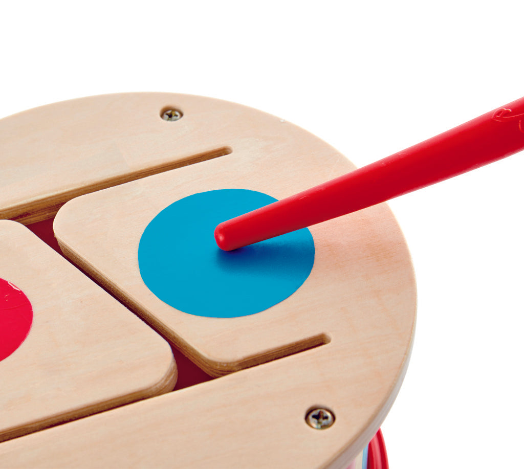 Hape Double-Sided Drum, a first musical instruments for babies, perfect for making music The Toy Wagon