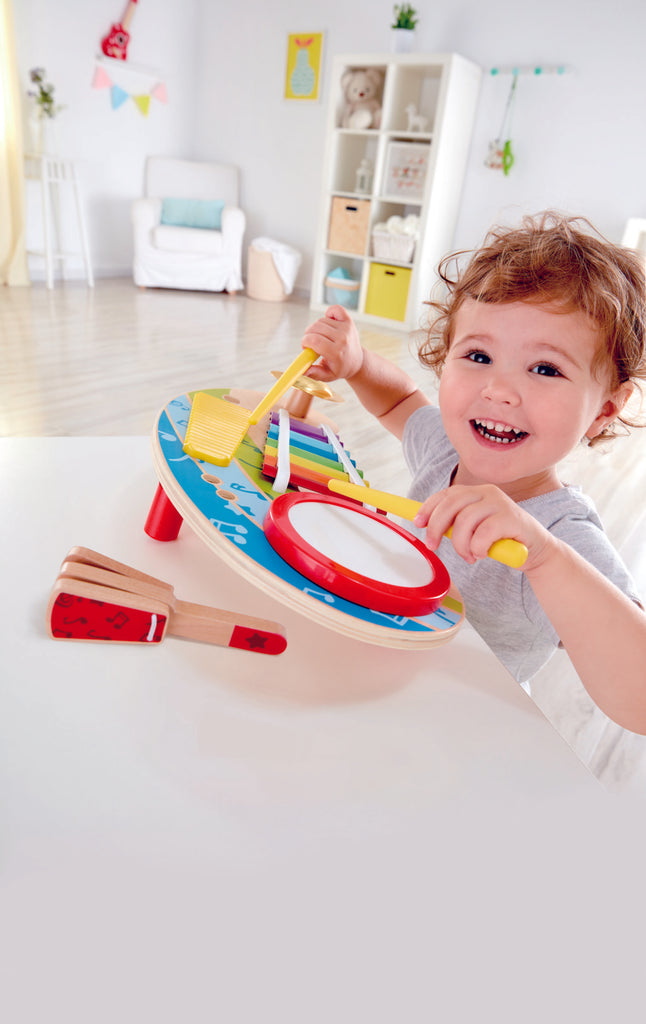 Hape Mighty Mini Band, a first musical instruments for babies, perfect for making music The Toy Wagon