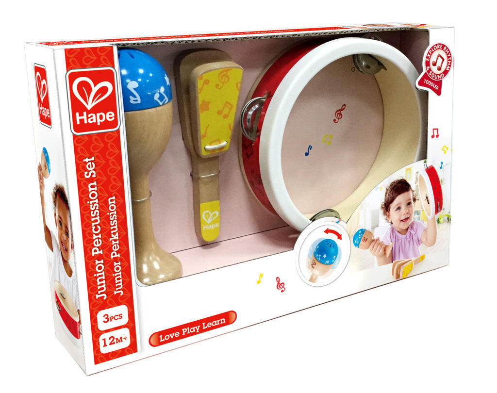 Hape Junior Percussion Set, a first musical instruments for babies, perfect for making music The Toy Wagon