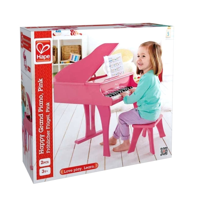 Hape Happy Grand Piano, Pink a great first musical instrument for children The Toy Wagon