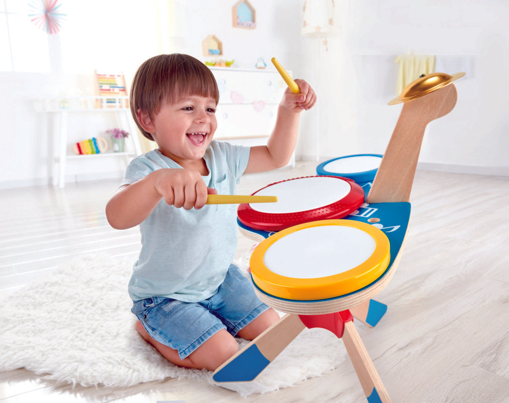 Hape Drum and Cymbal Set a great first musical instrument for children The Toy Wagon
