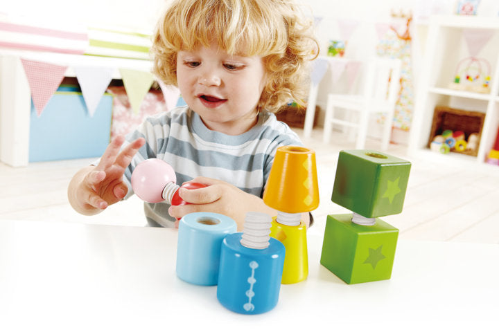 Hape Twist and Turnables fine motor skills promotes dexterity, hand eye co-ordinations The Toy Wagon