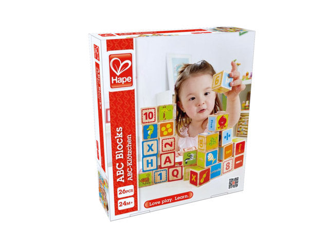 Hape ABC Blocks are wooden with hours of fun and imagitive play The Toy Wagon
