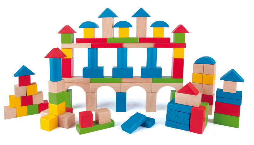 Hape Build up and Away Blocks sturdy wooden blocks will inspire hours of play and generations of builders The Toy Wagon