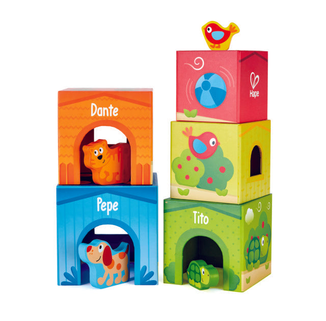 Hape Friendship Tower boxes are perfect for building and learning. Stack, sort shapes, The Toy Wagon