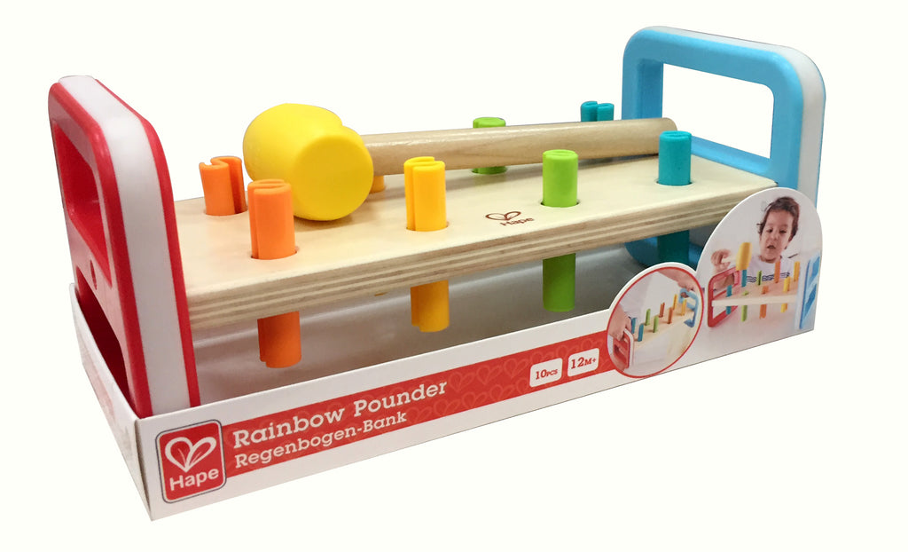 Hape Rainbow Pounder teaches kids about colors and counting The Toy Wagon