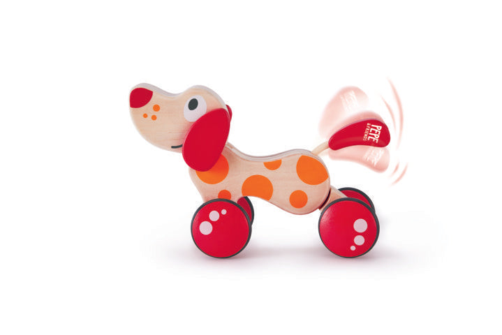 Hape Pepe Pull Along wooden push or pull along toy for babies The Toy Wagon