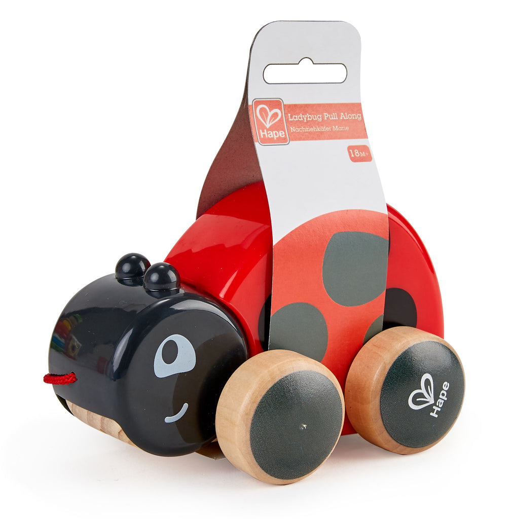 Hape Lady bug Pull Along wooden push or pull along toy for babies The Toy Wagon