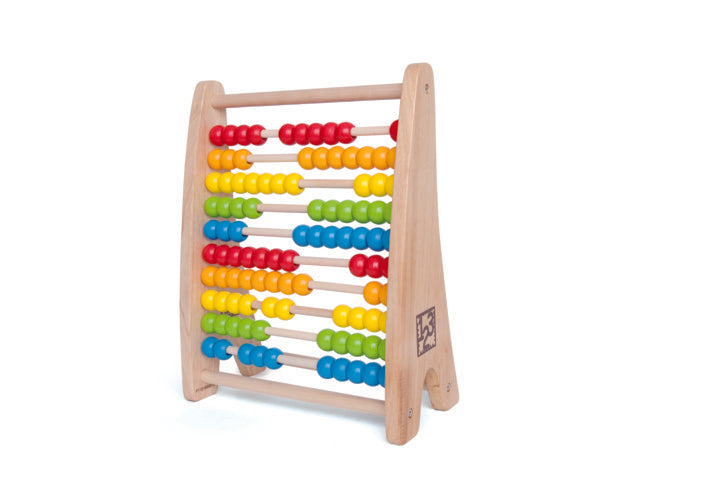 Hape Rainbow Bead Abacus counting and educational toys The Toy Wagon
