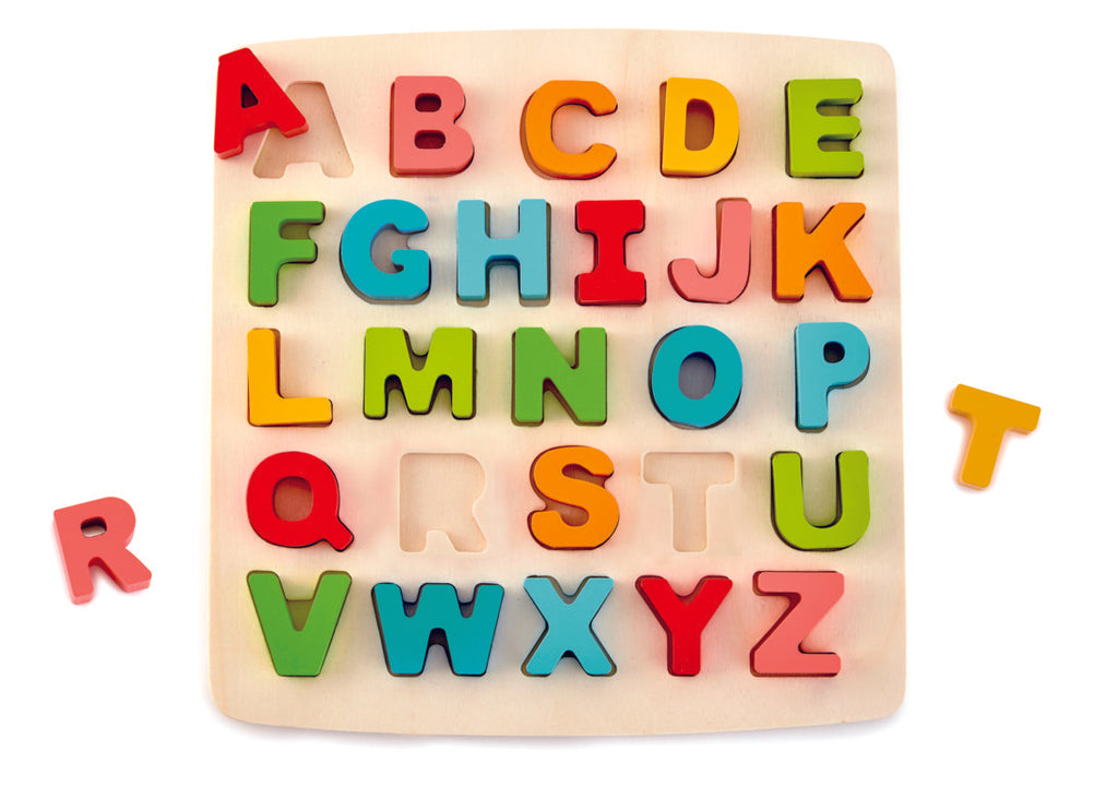 Hape Chunky Alphabet Puzzle wooden for little hands educational toys The Toy Wagon