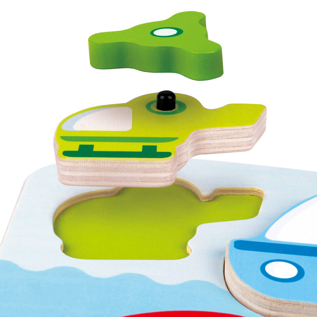 Hape Dynamic Vehicle Puzzle wooden for little hands educational toys The Toy Wagon