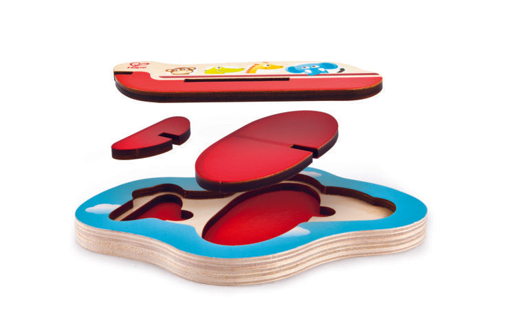 Hape 3D Airplane Puzzle wooden for little hands educational toys The Toy Wagon