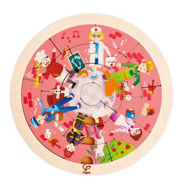Hape Jobs Roundabout Puzzle wooden for little hands educational toys The Toy Wagon