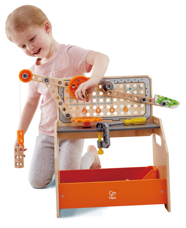 Hape Junior Inventor Discovery Scientific Workbench STEAM educational construction toys The Toy Wagon