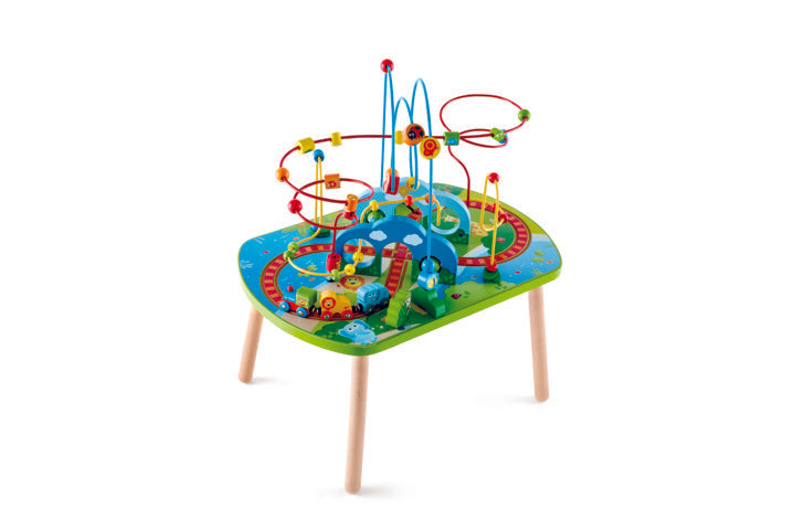 Hape Jungle Adventure Railway Table is wooden railway and train set The Toy Wagon