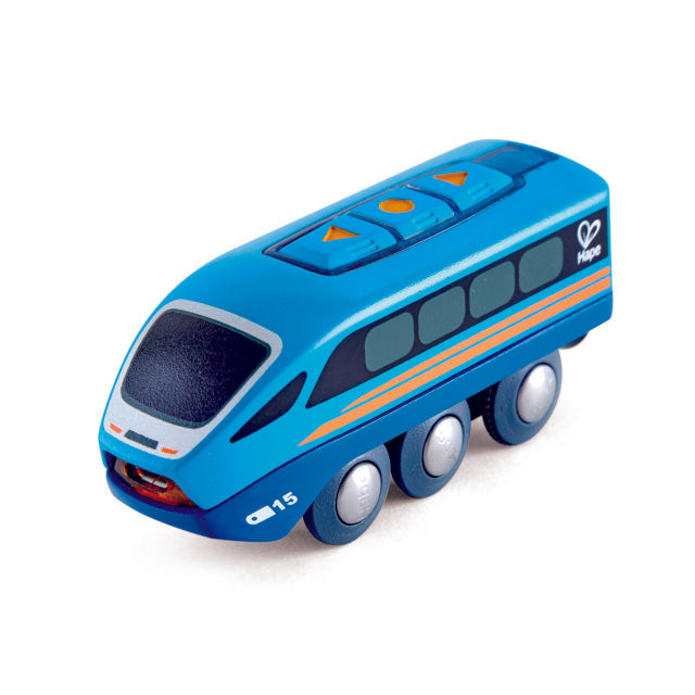 Hape Remote-Control Train is wooden railway and train set The Toy Wagon