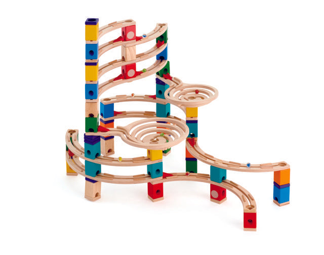 Hape Quadrilla The Ultimate wooden marble run, contruction and STEAM play The Toy Wagon