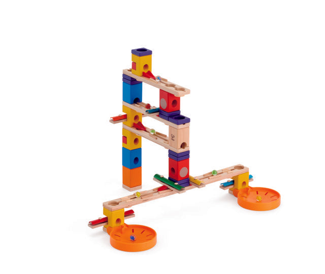 Hape Quadrilla Music Motion wooden marble run, contruction and STEAM play The Toy Wagon