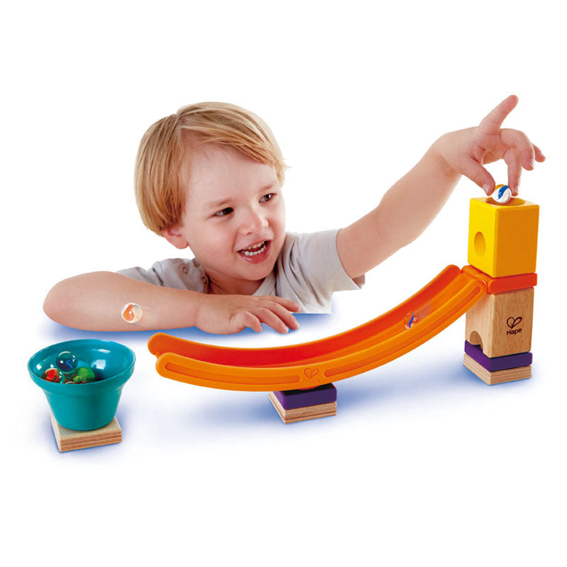 Hape Quadrilla Mega Skatepark wooden marble run, contruction and STEAM play The Toy Wagon