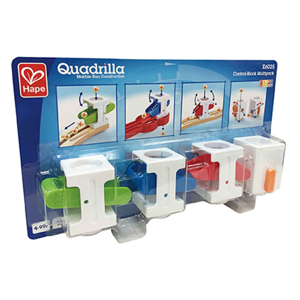 Hape Quadrilla Control-Block Multipack wooden marble run, contruction and STEAM play The Toy Wagon