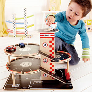 Hape Park and Go Garaged imaginative play quality wooden toys The Toy WagonHape Park and Go Garaged imaginative play quality wooden toys The Toy Wagon