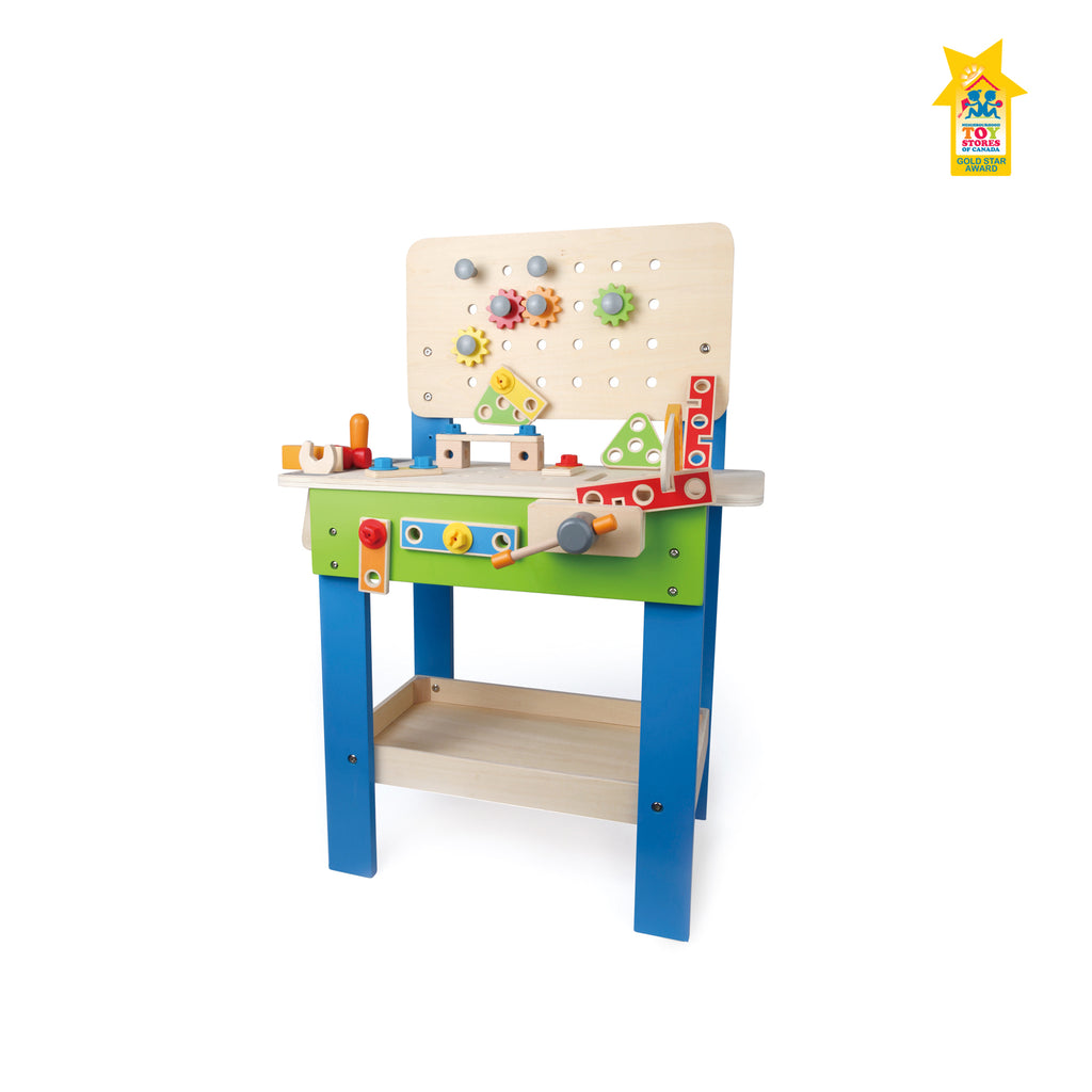 Hape Master Workbench imaginative play quality wooden toys The Toy Wagon
