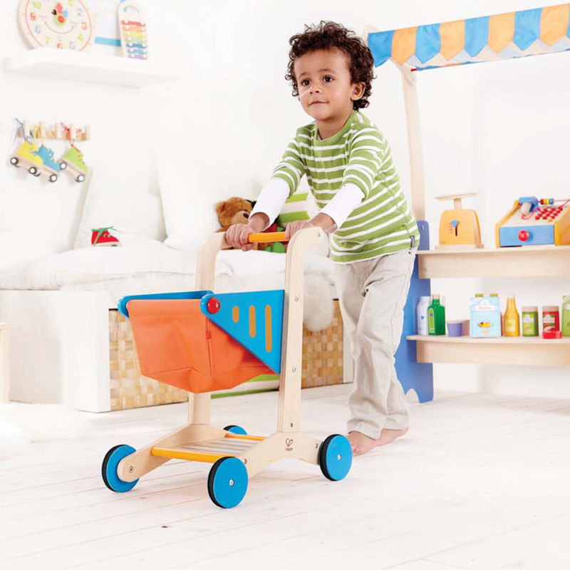 Hape Shopping Cart imaginative play quality wooden toys The Toy Wagon