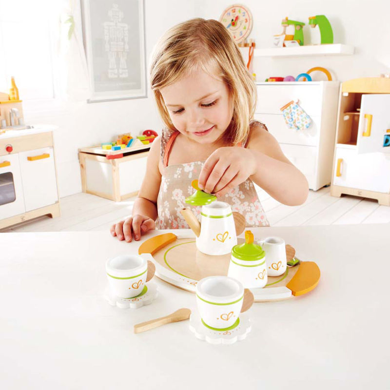 Hape Tea set for Two imaginative play quality wooden toys The Toy Wagon