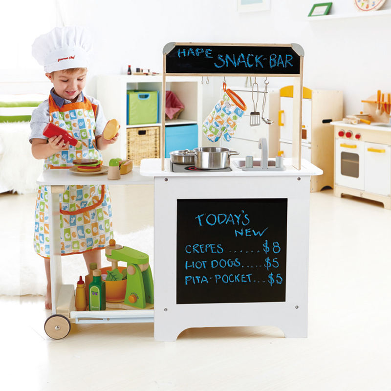 Hape Cook n Serve Kitchen imaginative play quality wooden toys The Toy Wagon