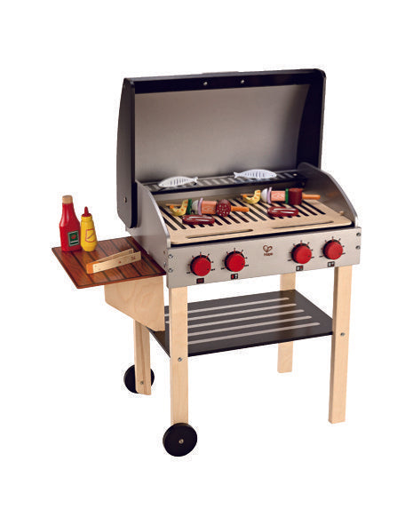 Hape Gourmet Grill with food imaginative play quality wooden toys The Toy Wagon