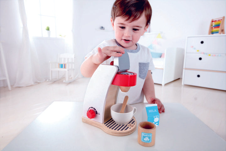 Hape My Coffee Machine imaginative play quality wooden toys The Toy Wagon
