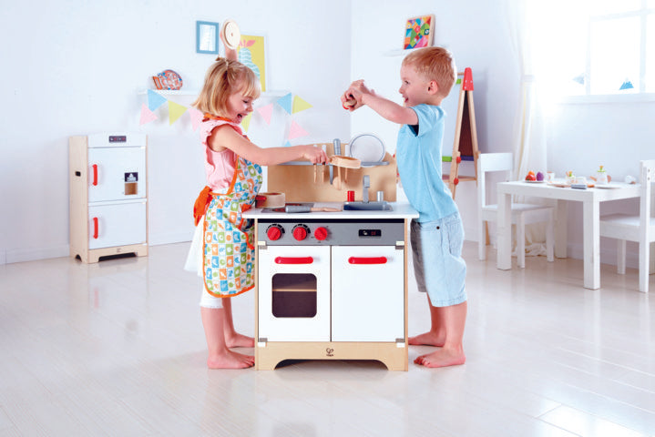 Hape White Gourmet Kitchen imaginative play quality wooden toys The Toy Wagon