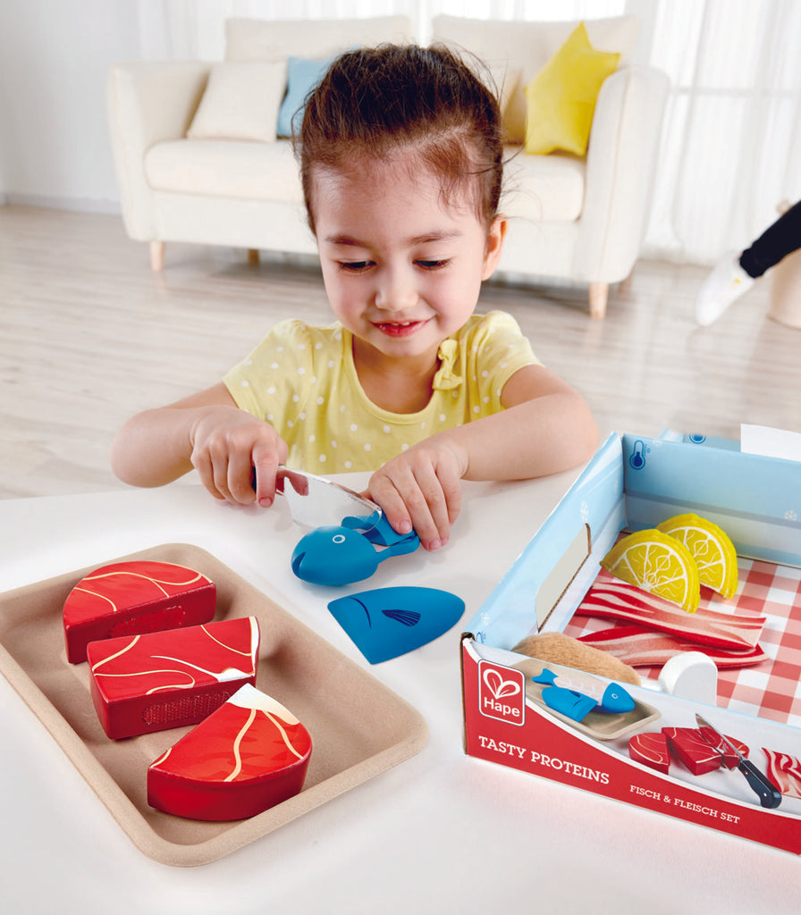 HapeTasty Proteins imaginative play quality wooden toys The Toy Wagon