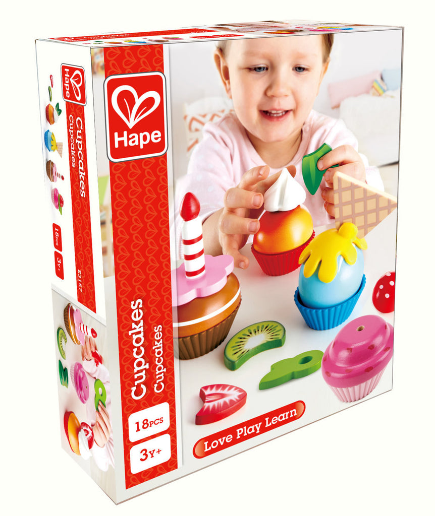 Hape Cupcakes imaginative play quality wooden toys The Toy Wagon
