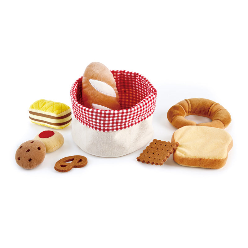 Hape Toddler Bread Basket imaginative play quality wooden toys The Toy Wagon