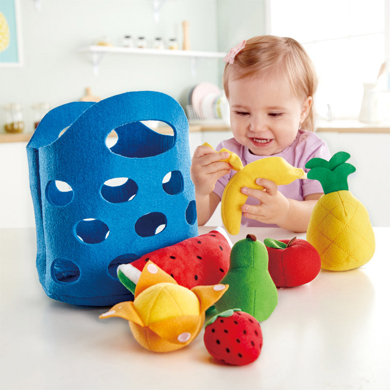 Hape Toddler Fruit Basket imaginative play quality wooden toys The Toy Wagon