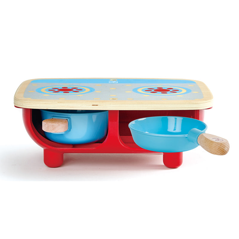 Hape Toddler Kitchen Set imaginative play quality wooden toys The Toy Wagon