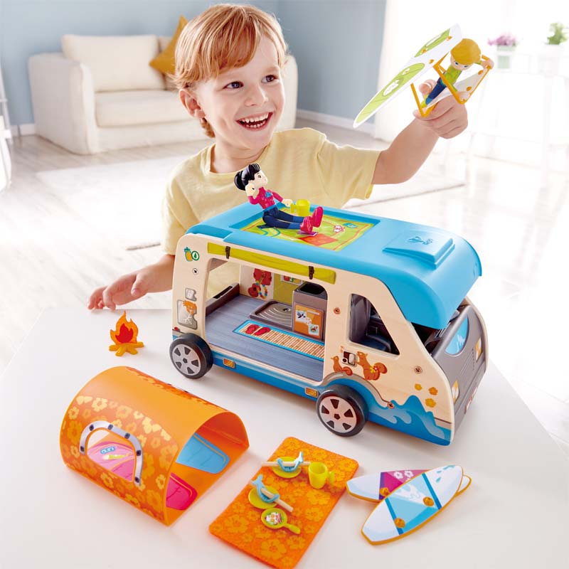 Hape Adventure Van imaginative play quality wooden toys The Toy Wagon