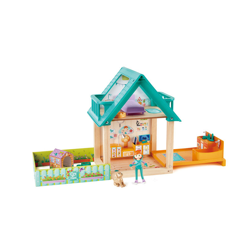 Hape Furry Friend Vet Set imaginative play quality wooden toys The Toy Wagon
