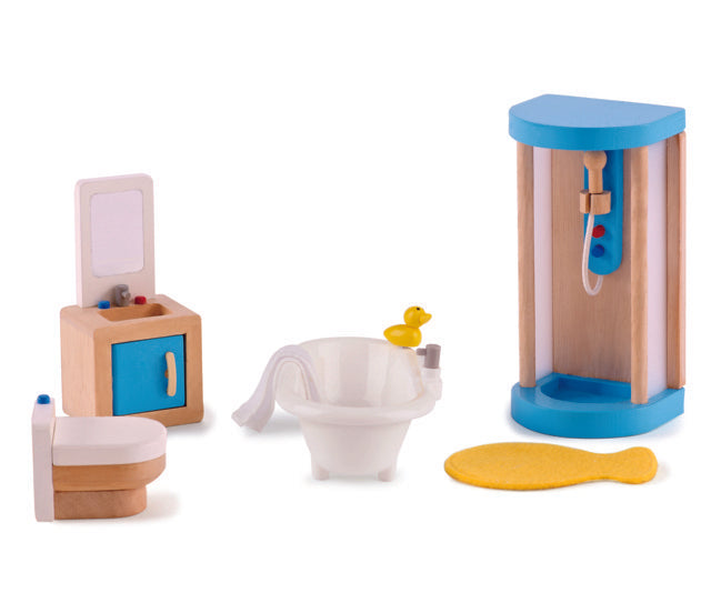Hape Family Bathroom imaginative play quality wooden toys The Toy Wagon