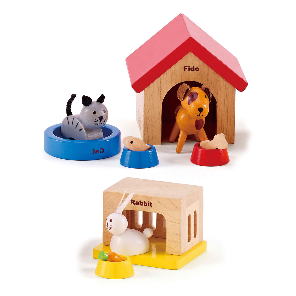 Hape Family Pets imaginative play quality wooden toys The Toy Wagon