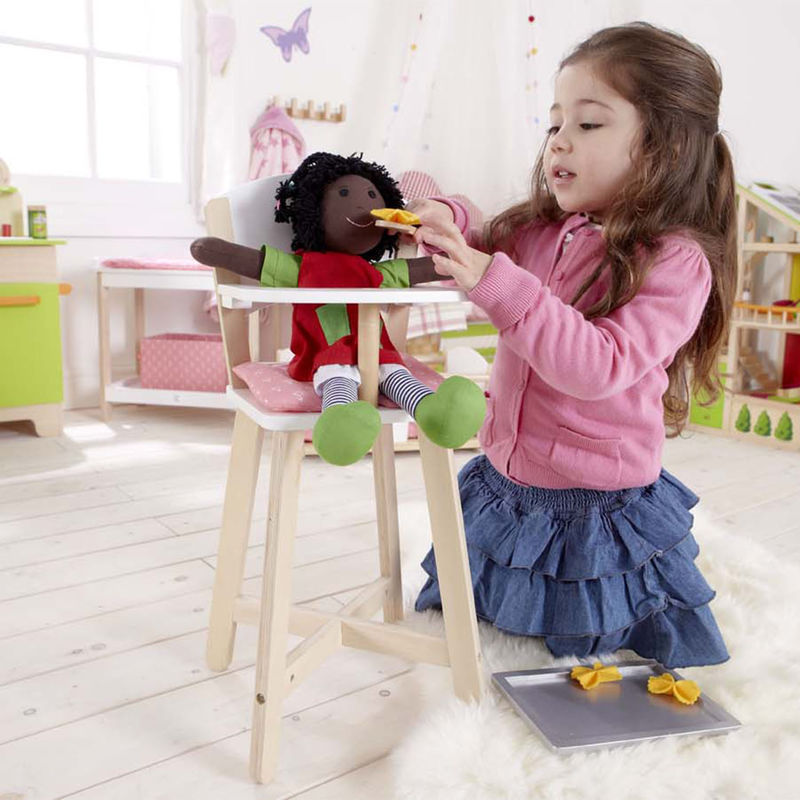 Hape Highchair imaginative play with quality wooden toys The Toy Wagon