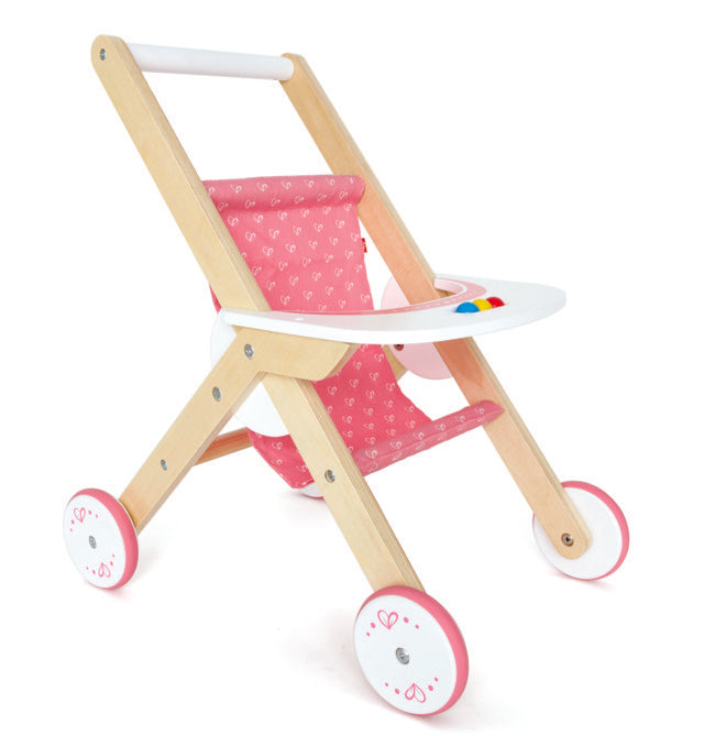 Hape Stroller imaginative play with quality wooden toys The Toy Wagon