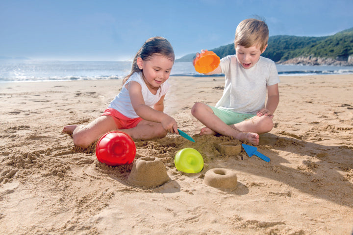 Hape Bakers Trio perfect for the sand or backyard play with quality outdoor toys The Toy Wagon