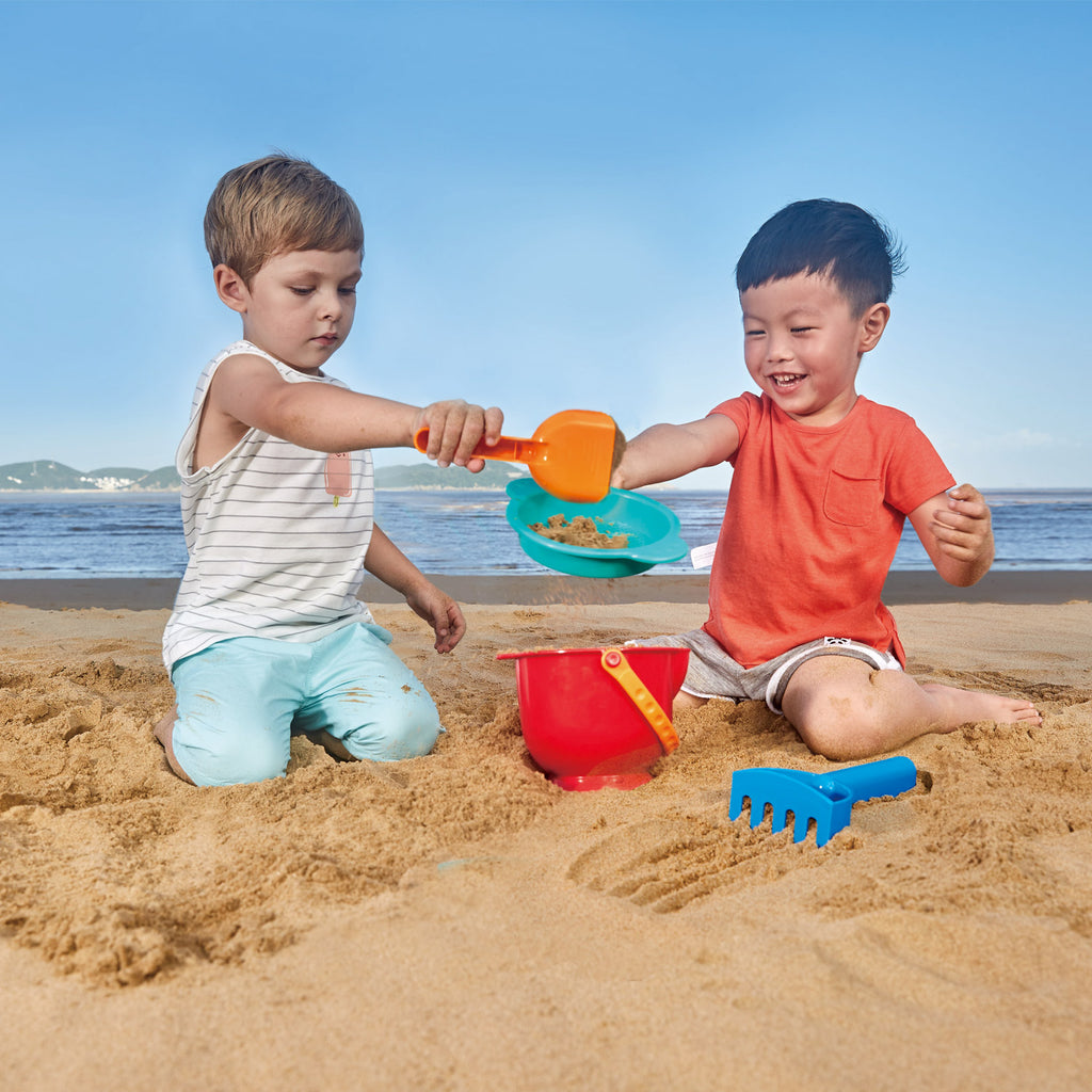 Hape Beach Basics perfect for the sand or backyard play with quality outdoor toys The Toy Wagon