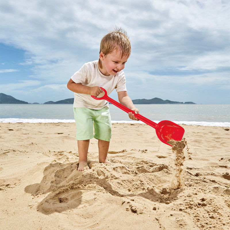 Hape Sand Shovel, Red perfect for the sand or backyard play with quality outdoor toys The Toy Wagon