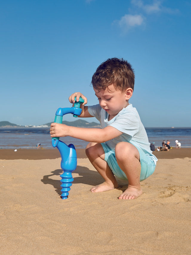 Hape Driller, Blue perfect for the sand or backyard play with quality outdoor toys The Toy Wagon