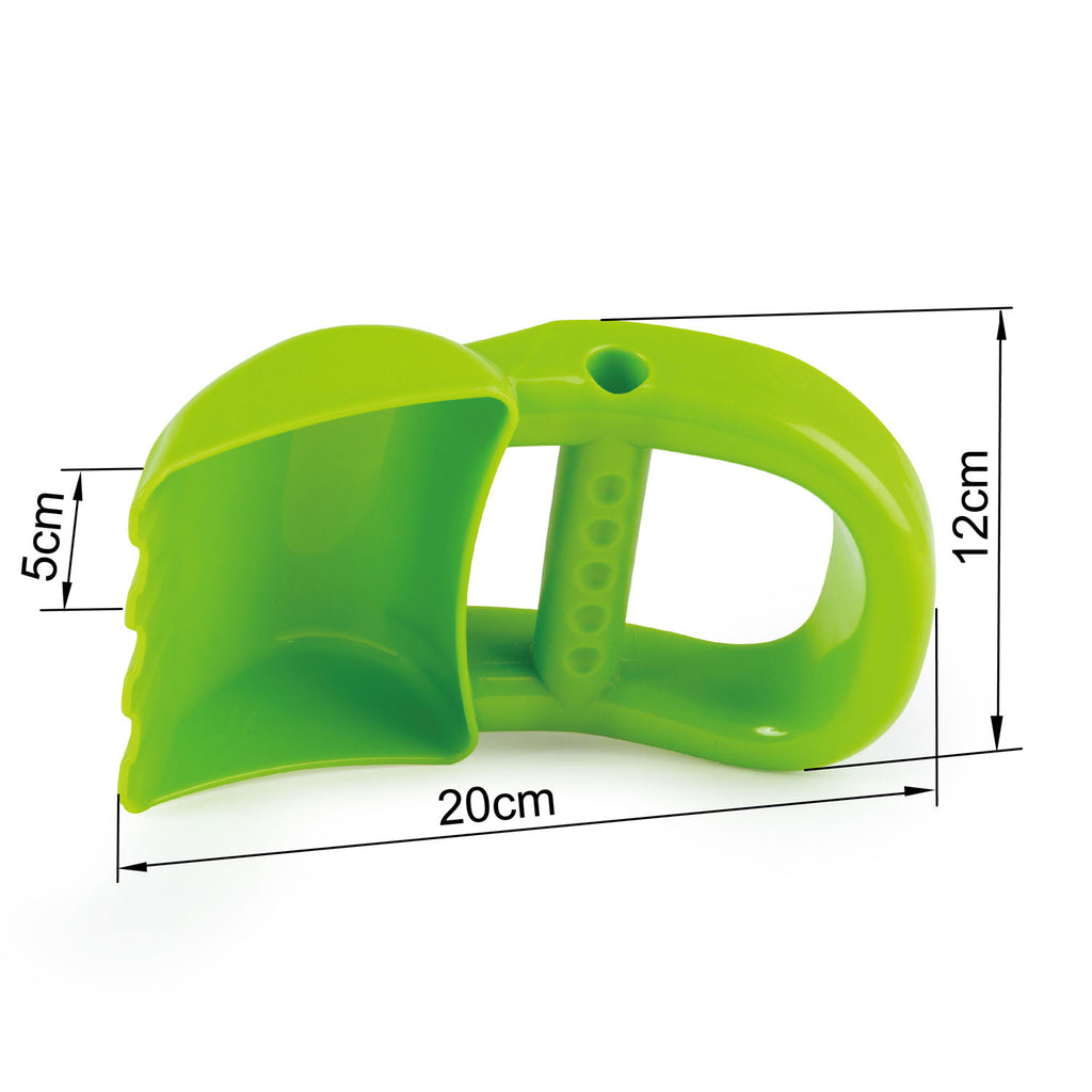 Hape Hand Digger - Green perfect for the sand or backyard play with quality outdoor toys The Toy Wagon