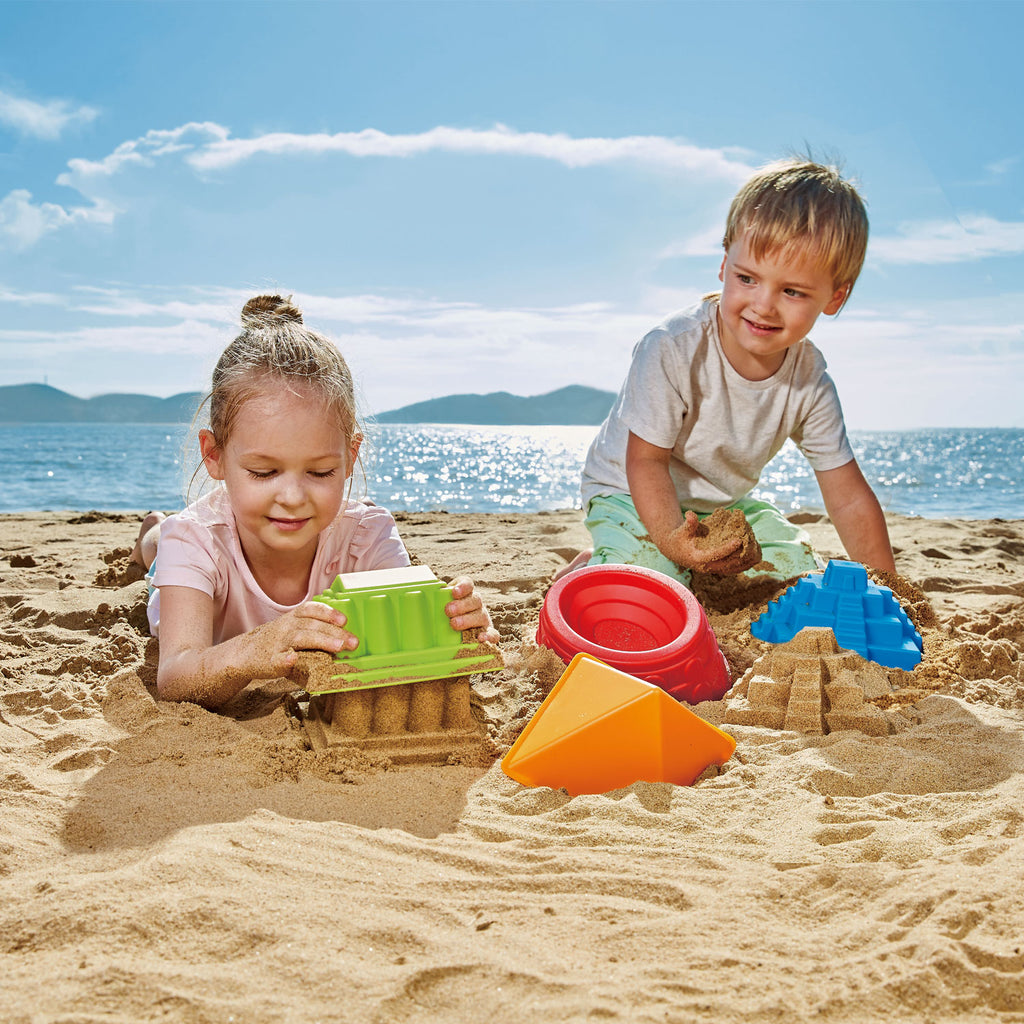 Hape Mayan Pyramid perfect for the sand or backyard play with quality outdoor toys The Toy Wagon